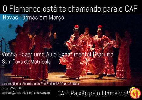Novas Turmas Dança Flamenca CAF